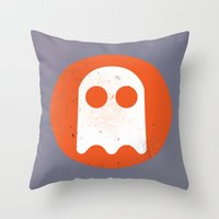 video game Throw Pillows featuring Video game - Retro Vintage Fashion by totemxtotem