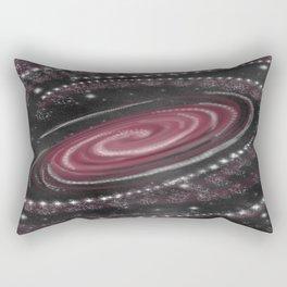 Raspberry Cosmic Print  Rectangular Pillow