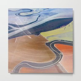 South Bay Swirling Metal Print
