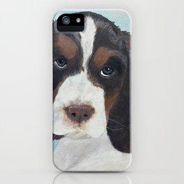 Springer Spaniel Portrait * Original Painting * Dog Portrait for pet lovers iPhone Case
