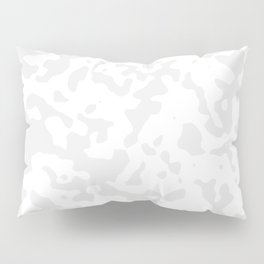 Spots - White and Pale Gray Pillow Sham