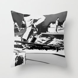 Off the Rails   - Skateboarder Throw Pillow