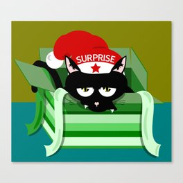 Naughty Cat Surprise Canvas Print
