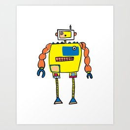 Classic Mr. Orange Super Robot Art Print