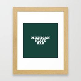 Michigan State Dad Framed Art Print
