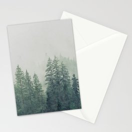 Foggy forest watercolor painting #10 Stationery Cards