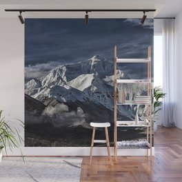 Mount Everest from the north side view in China Wall Mural