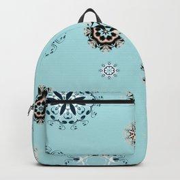 Blue Mandala, Pattern, Digital Design, Shapes Backpack