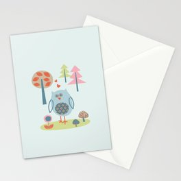 Bird in the Woods Stationery Cards