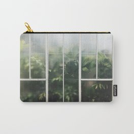 Hot House Window with Jungle of Palms Photograph Carry-All Pouch