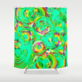 Abstract HJ Y Shower Curtain