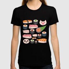 Kawaii sushi white T-shirt