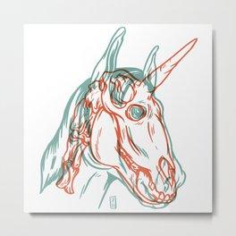 Unicorn Xray Metal Print