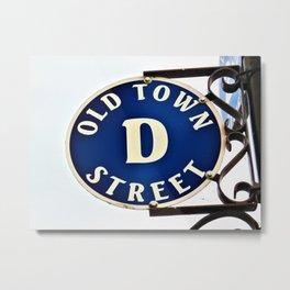 D-Street Metal Print
