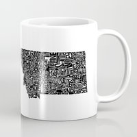 montana Mugs featuring Typographic Montana by CAPow!