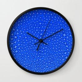 Wild Thing Cool Blue Leopard Print Wall Clock