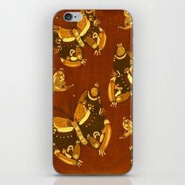 Brown Folk Butterflies iPhone Skin