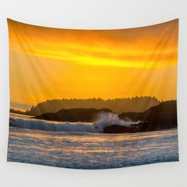 West Coast Waves Wall Tapestry