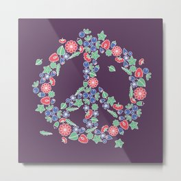 Peace. Floral wreath Metal Print