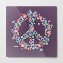 Peace. Floral wreath Metal Print