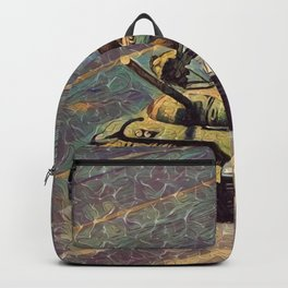Freedom to imagine, Tiananmen Square, Tank Man, freedom, liberty, human rights landscape painting Backpack