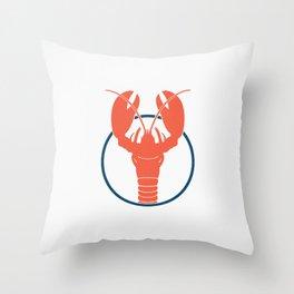 Lobster Lake Throw Pillow