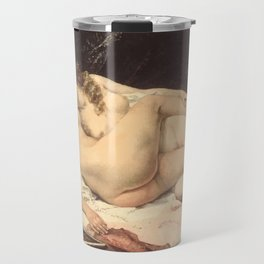 Victorian Lesbians, Gustave Courbet, 1866 Travel Mug