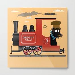 Groovy train Metal Print