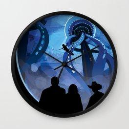 NASA Retro Space Travel Poster #4 - Europa Wall Clock