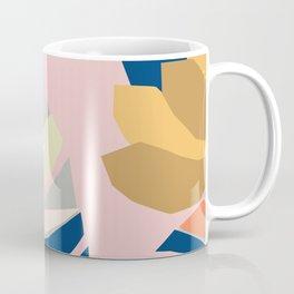 Monstera leaf Jungle mid century modern paper collage Coffee Mug