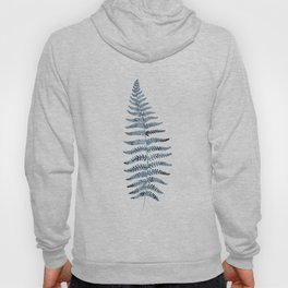 Indigo Fern 1 | Watercolour Painting Hoody