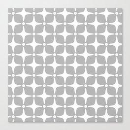 Mid Century Modern Star Pattern Gray 2 Canvas Print