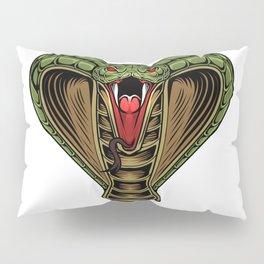 King Cobra Head Mascot Logo Pillow Sham