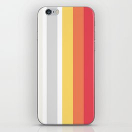 Colorful Stripes Barcode 80s iPhone Skin