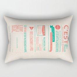 C'est un trou de verdure Rectangular Pillow
