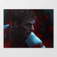 fight Canvas Prints featuring Fight by Kate Dunn