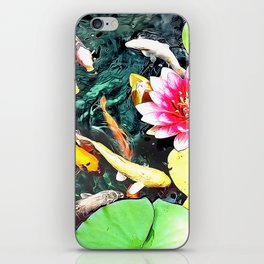 Koi and Water Lilies iPhone Skin