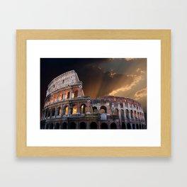 The Coliseum of Ancient Rome Framed Art Print