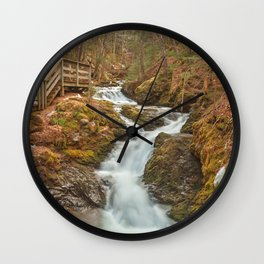 Centipede Step Falls Wall Clock
