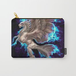 White Electric Phoenix Carry-All Pouch