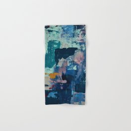 The Peace of Wild Things: a vibrant abstract piece in a variety of colors by Alyssa Hamilton Art Hand & Bath Towel