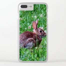 Bunny In The Meadow Clear iPhone Case