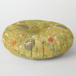 Hedgehog Meadow Floor Pillow