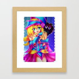 Dark Magician Girl + Kuriboh Framed Art Print