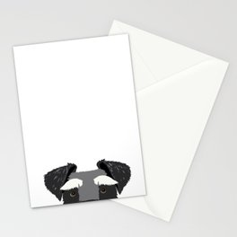 Schnauzer peeking face dog breed pure breed gifts Stationery Cards