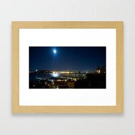 Moonlit dusk Framed Art Print