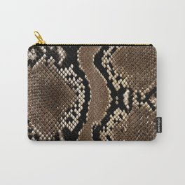 Python Skin Pattern Snake Skin Brown Animal Print Home Decor Carry-All Pouch