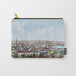 1877 Panoramic Portrait of Providence, Rhode Island by Packard and Schwegler Carry-All Pouch