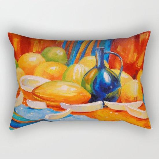 Still life with melon Rectangular Pillow
