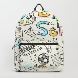 Back to School Sketches Notebook Backpack